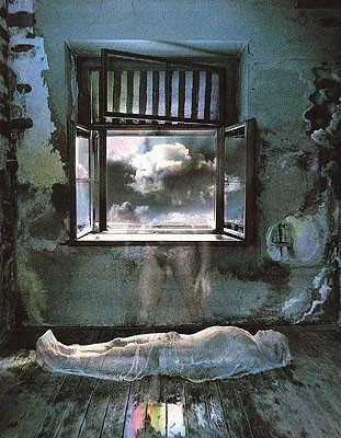 Jan Saudek Spirit leaving the body 1977.jpg
