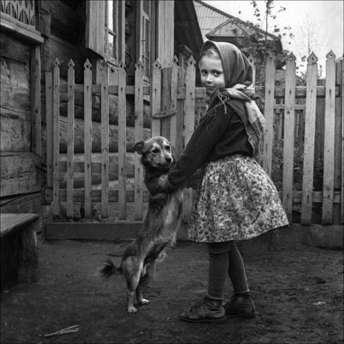 Alexander Kustov - Waltz (Devochka and her dog) Krasnoyarsk, Siberia.jpg