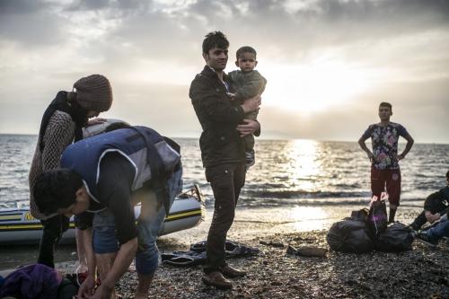 Charles Ommanney afghan arrivés sur l'île de Cos Grèce à 13.jpg