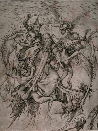 Martin Schongauer - Engraving - tentations de st antoine 1480-90.jpg