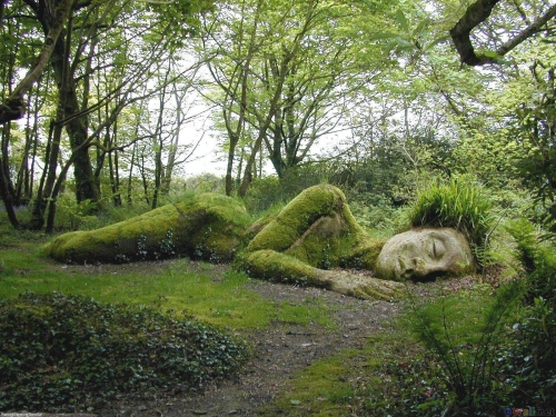 The Lost Gardens of Heligan, 1850-1900 Cornwall UK sleeping goddess.jpg