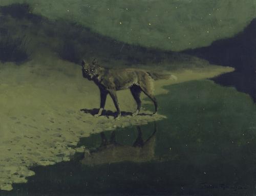 Frederic Remington, Moonlight Wolf, 1909..jpg