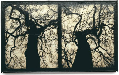 Mike & Doug Starn - Blot Out the Sun 7, Archival inkjet prints with encaustic and wax.jpg