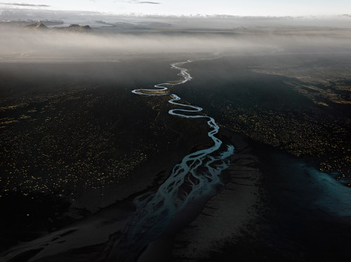Edward Burtynsky  Dyralaekir River on Mydalssandur, Iceland.jpg