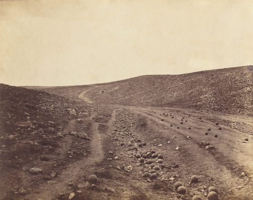 roger fenton valley_of_shadow_of_death guerre de Crimée 1855.jpg