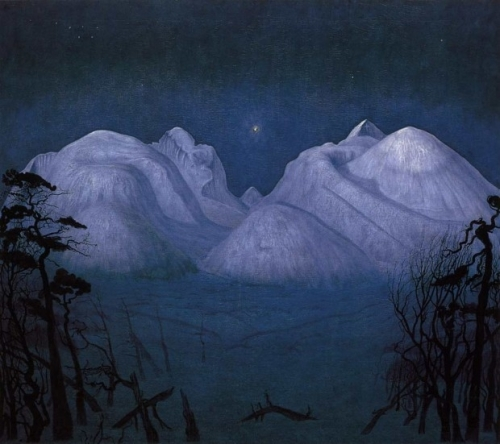 Harald Sohlberg, Winter Night in the Mountains, 1901.jpg