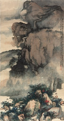 Chang Dai-chien (1899–1983 Hidden Valley, after Guo Xi.jpg