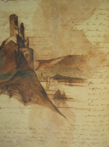 Victor Hugo - Sketches of castle ruins. Around 1840 00.jpg