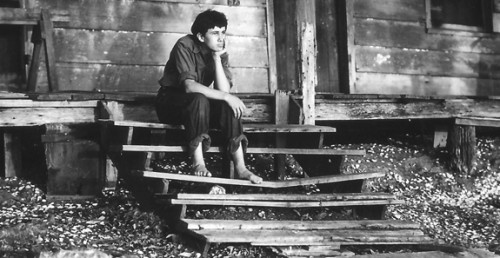 Todd Webb, J.C. Boudreaux at cabin on Weeks Island during filming of Louisiana Story, c. 1947.jpg