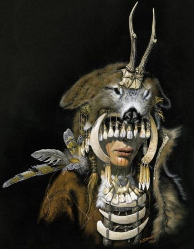 Karol Schauer - Shaman mésolithique du site de Bad Dürrenberg.jpg
