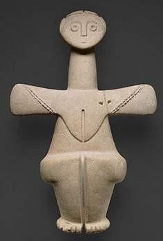 cypriot  Déesse de la fertilité - Chalcolithic, Cyprus, 3000 - 2500 B.C..jpg