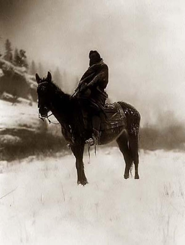 Edward S. Curtis Crow Scout in Winter 1908 in Montana.jpg