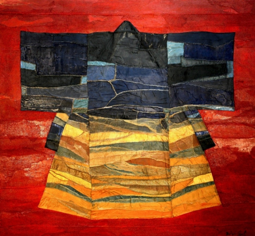 Fabrizio Onali  An antique Kimono transformed into a painting.jpg