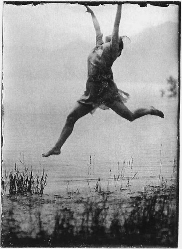 Mary Wigman by the foot of lake Maggiore during her time at Monte Verità, 1913.jpg