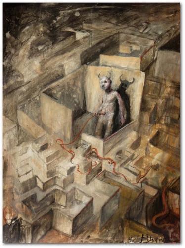 Hubert Duprilot (Minotaure) 2014, acrylique sur papier (60x80cm).jpg