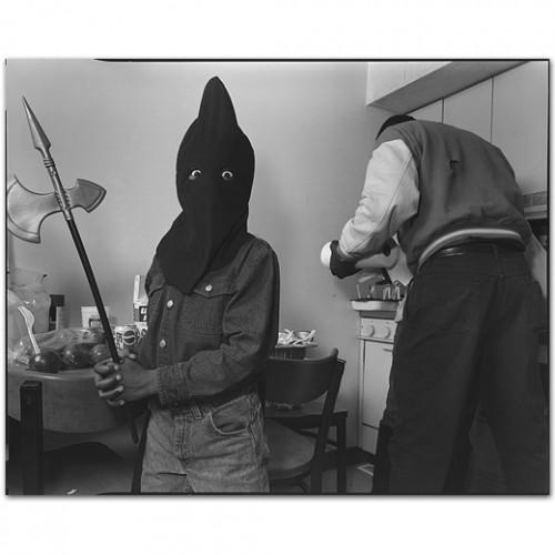 Mary ellen mark Edward Simmons, Halloween, South Bronx H.E.L.P. Shelter, New York, USA, 1993.jpg