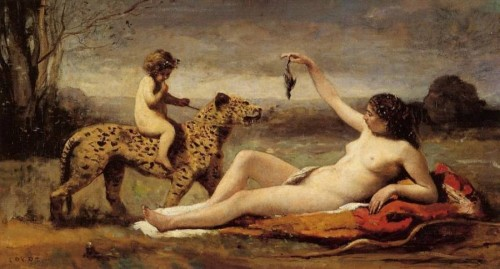 Jean-Baptiste-Corot Bacchante-avec-une-Panthere-1860-Jean-Baptiste-Corot.jpg