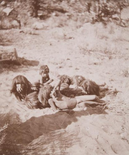 John K. Hillers Children taking a sunbath 1873.jpg