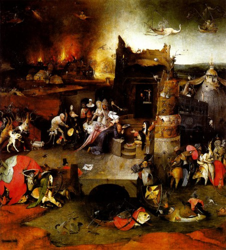 Hieronymus Bosch - Temptation of St Anthony - Centeral Panel - oil on panel - 1500.jpg
