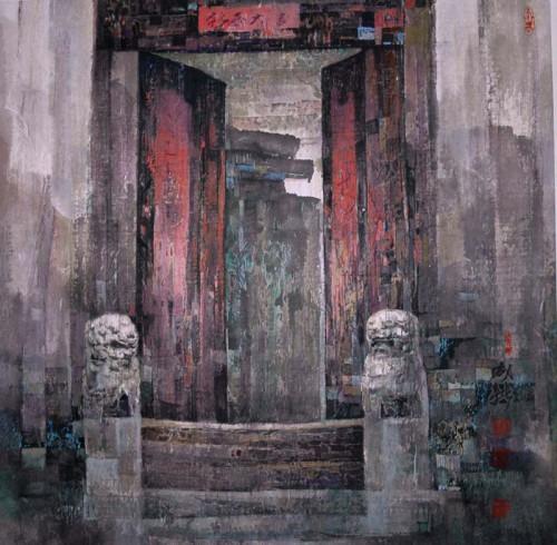 Sun Cheng Xin - hutong home gate 2002.jpg