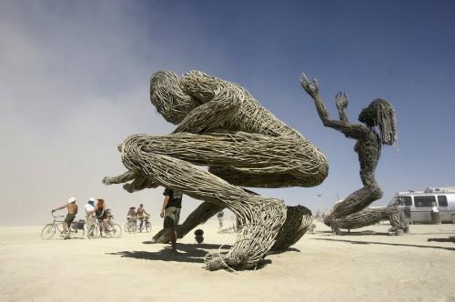 Romualdas Pozerskis Burning man.jpg