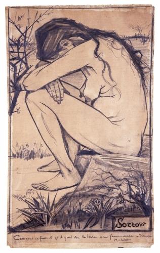 Vincent van Gogh Sorrow 1882 commenté par Jules Michelet.jpg