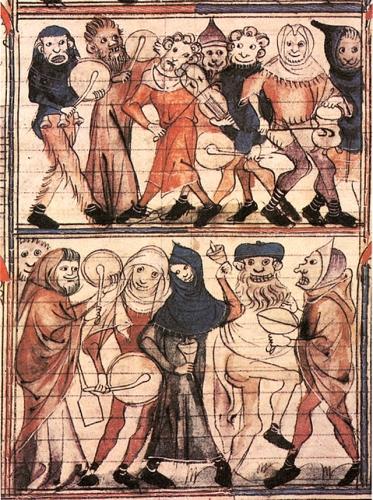 Fête_des_Fous rOMAN DE fAUVEL Miniature du XIVe s.jpg