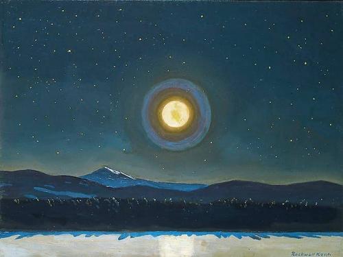 Rockwell Kent, clair de lune dans les Adirondacks, 1960.n.jpg