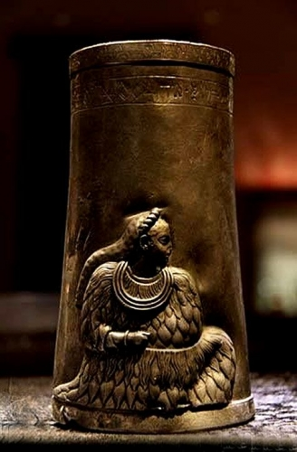 4,200 yr old Silver cup with linear Elamite lady Marvdasht, Pars ..jpg
