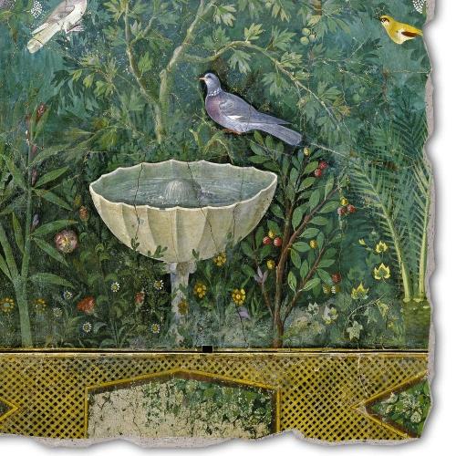 Fontaine dans un jardin, fresque de Pompéï.jpg