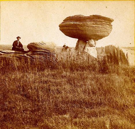 Alexander Gardner Mushroom Rock on Alum Creek, Kansas. 7 miles east of Fort Harker and 496 miles west of St. Louis, Mo. 1867 .jpg