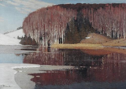 Vilhelms Purvītis Pavasara ūdeņi (Maestozo) [Spring waters (Maestoso) c.1910. .jpg