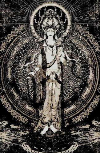 Avalokitesvara Bodhisattva de la Compassion. ..jpg