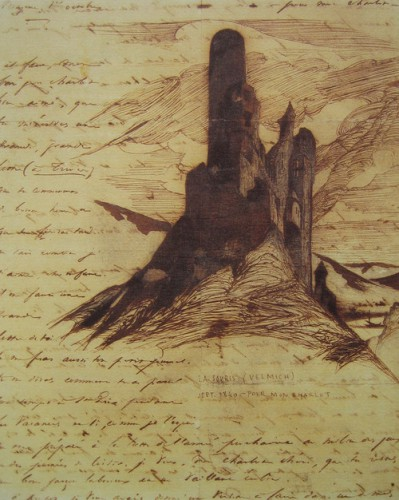 Victor Hugo - Sketches of castle ruins. Around 1840 0.jpg