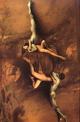 Jan Saudek Dancers in paradise 1986.jpg
