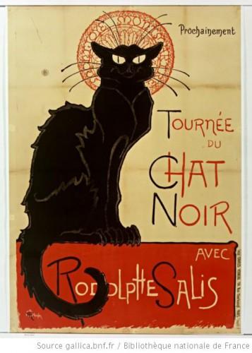 Théophile-Alexandre Steinlen,  Prochainement Tournée du Chat Noir Avec Rodolphe Salis [lithographie en couleur, 140 x 100 cm, 1896].jpg