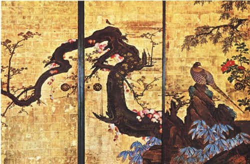 Kano Sanraku, Plum Tree and Pheasant.jpg