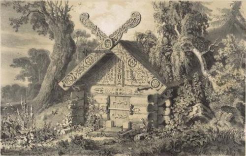 Richard Karlovich Maack  Tombe d'un shaman mangun, Sibérie, région de la rivière Amour_n.jpg