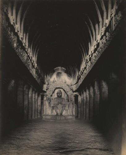 Alfred William Plâté Sutar ka Jhopda Cave Interior, Ellora Caves 1890-1900 sri lanka.jpg