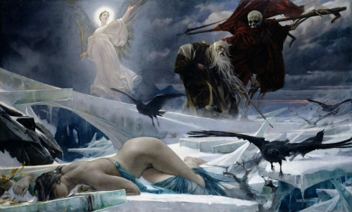 Adolf Hirémy-Hirschl, Ahasuerus_at_the_End_of_the_World 1888.jpg