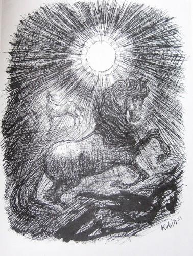 alfred kubin-chevaux et soleil-1933.JPG