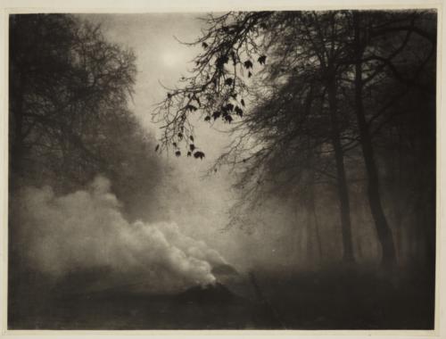 Charles Job'Burning Leaves, Kensington Garden 1924.png