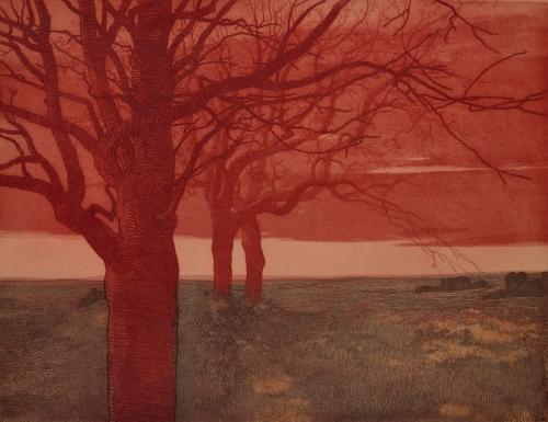 Vojtěch Preissig (1873-1944), Paysage aux Arbres - 1906-08.jpg