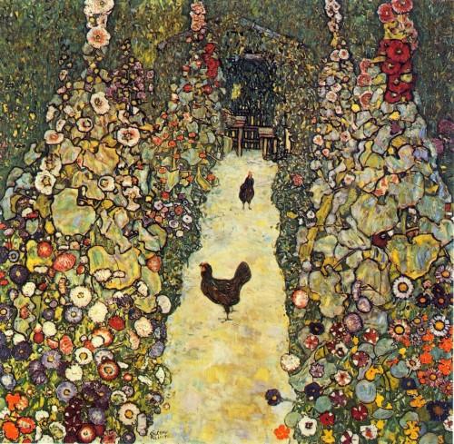 gustav Klimt Jardin avec des coqs, 1917.jpg