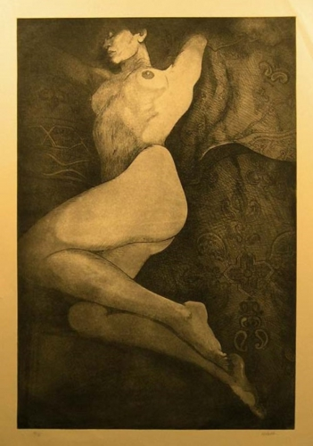 nick abdalla nude-woman-on-tan-paper etching.jpg