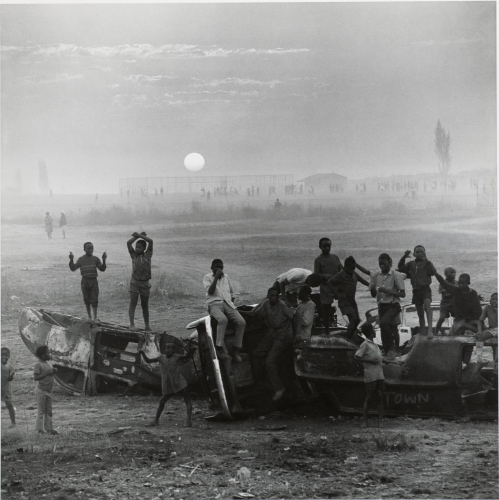 David Goldblatt The playing fields of Tladi, Soweto, Johannesburg, August 1972.jpg