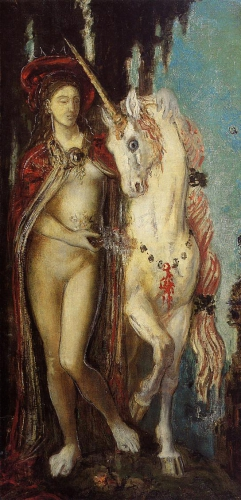 gustave moreau the-unicorn 1885 wikipaint.jpg