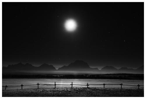 chuck kimmerle Moon and Fence, Grand Teton National Park.jpg