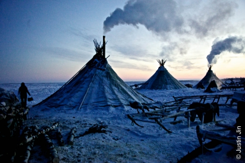 Justin-Jin-Arctic-Tents, or 'chums', shield herders from temperatures of -45 Celsius (-40F) in the Nenets Autonomous Region..jpg