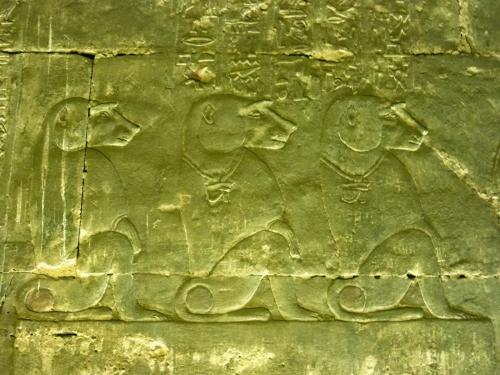 Babouins - Temple d'Edfou - Egypte.JPG